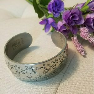 KIRK Pewter Bangle Bracelet Lily of the Valley